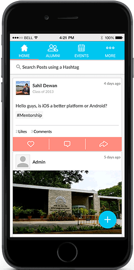 The Alumni App UI
